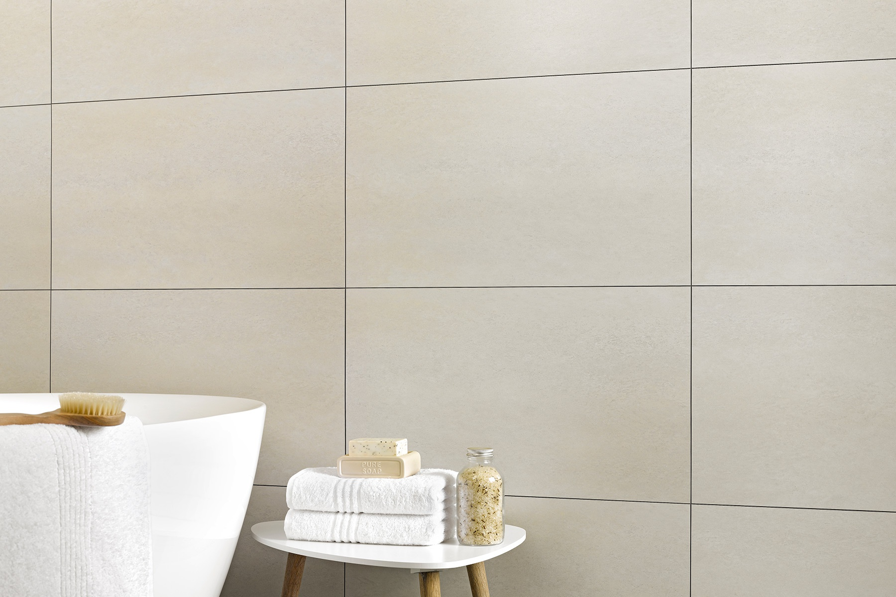 Salle De Bain Taupe Beige waterproof pvc tongue-and-groove wall cladding | dumawall+